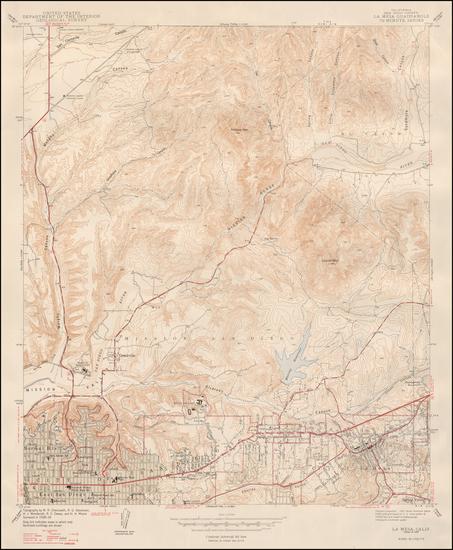 2-San Diego Map By U.S. Geological Survey