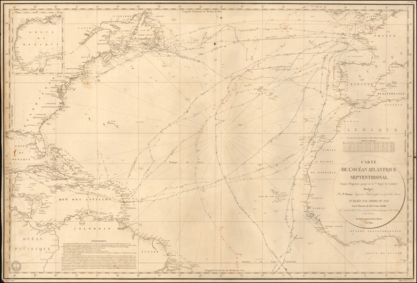 21-Atlantic Ocean Map By Depot de la Marine