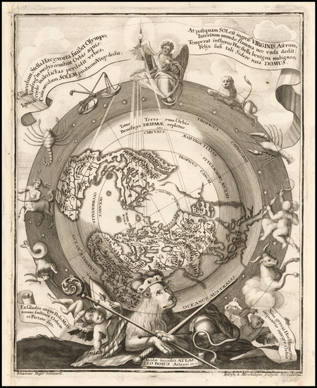 3-Northern Hemisphere and Polar Maps Map By Heinrich Scherer