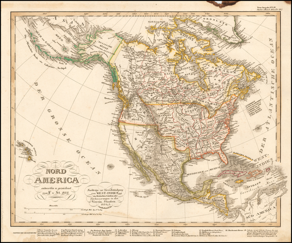 59-North America Map By Adolf Stieler
