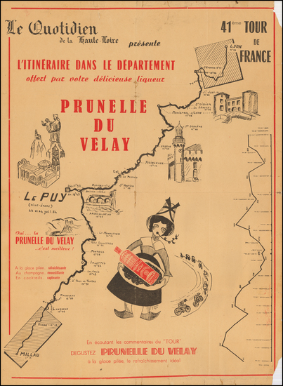 1-France and Pictorial Maps Map By