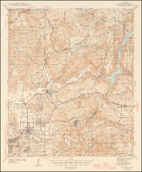 74-California and San Diego Map By U.S. Geological Survey