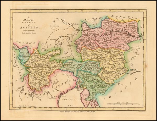 19-Austria Map By Robert Wilkinson