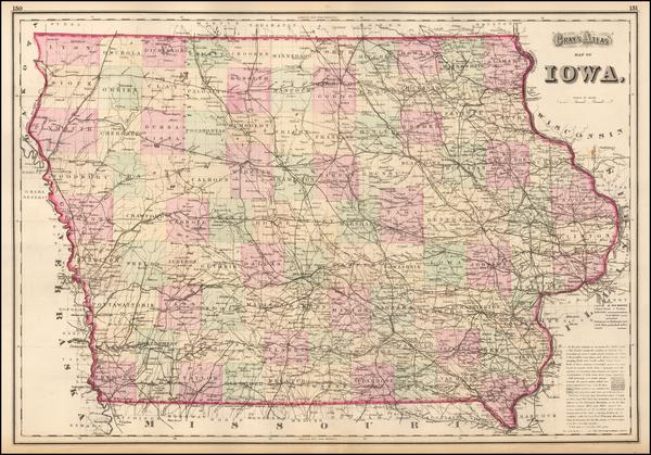 44-Iowa Map By O.W. Gray