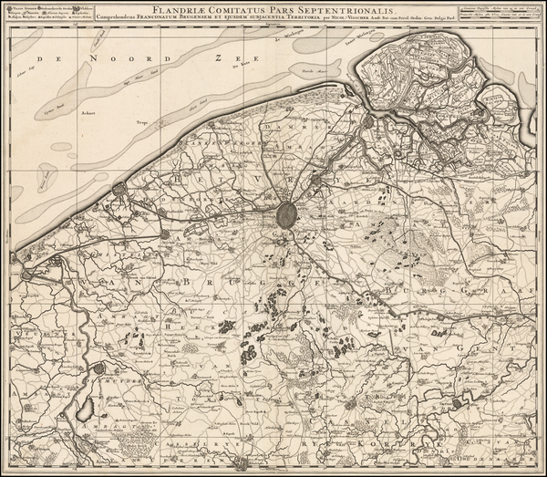 21-Belgium Map By Nicolaes Visscher I
