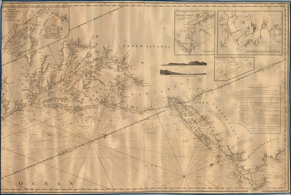 New England and Mid-Atlantic Map By John William Norie