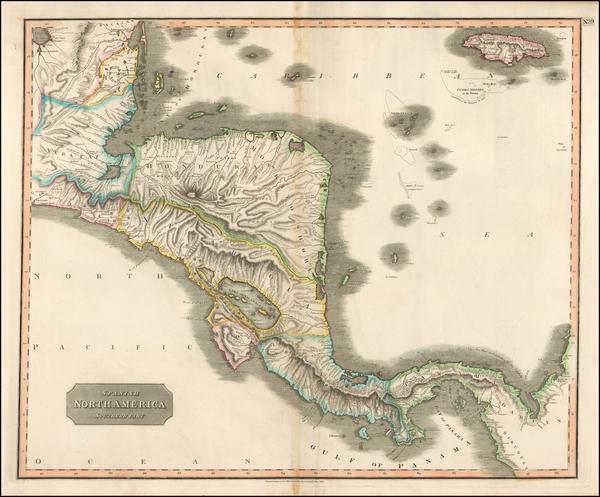 87-Central America Map By John Thomson