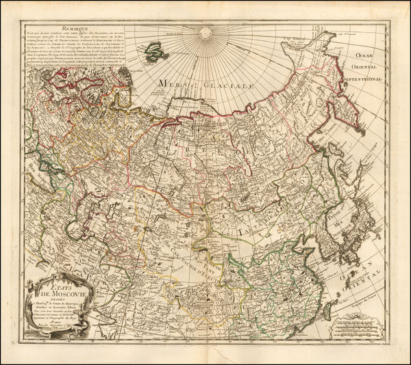 Russia, Central Asia & Caucasus and Russia in Asia Map By George Louis Le Rouge