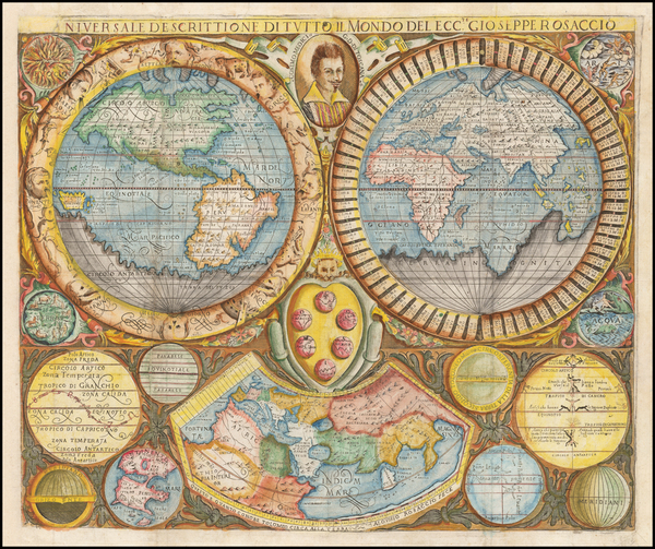 89-World Map By Giuseppe Rosaccio