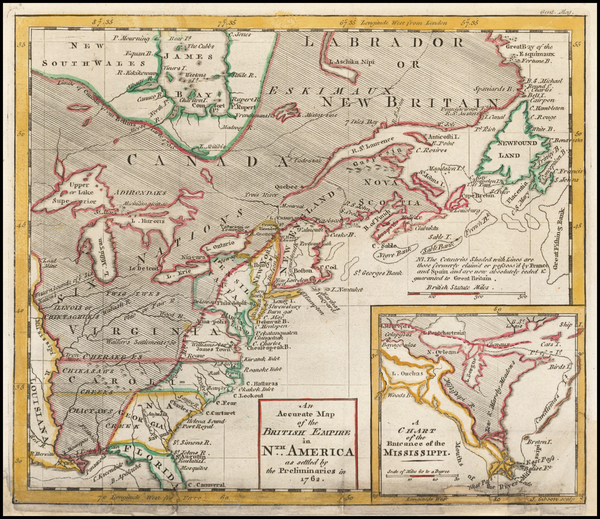 United States Map By Gentleman's Magazine