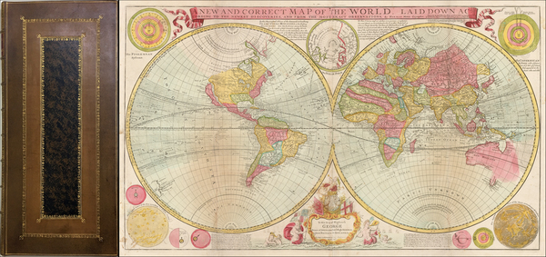 88-Atlases Map By Herman Moll