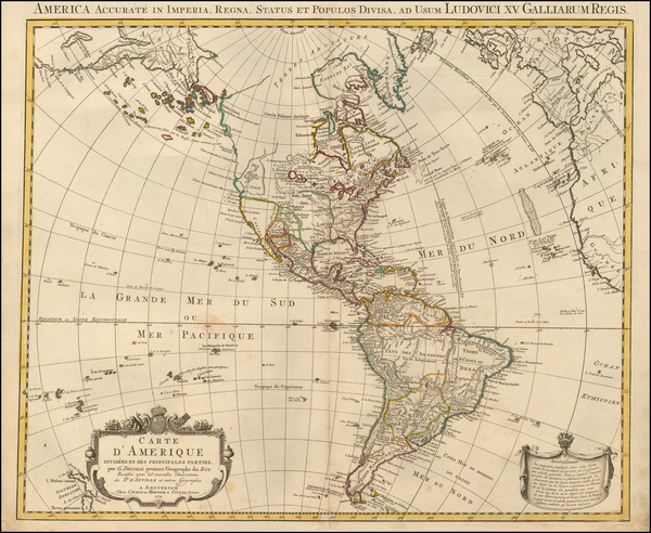 48-America Map By Johannes Covens  &  Cornelis Mortier  &  J. Covens & Zoon