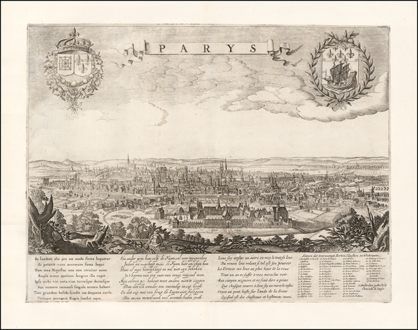 Paris Map By Clement de Jonghe