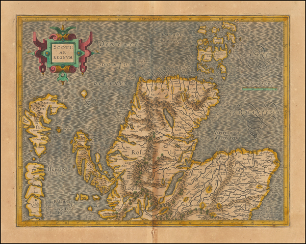 37-Scotland Map By  Gerard Mercator