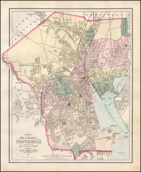 45-Rhode Island Map By O.W. Gray