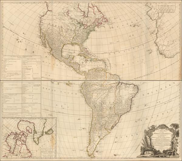 72-America Map By Robert Sayer  &  Richard Bennett