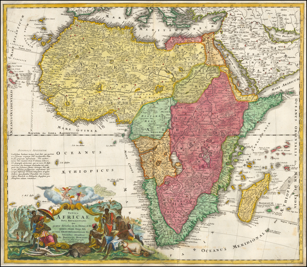 42-Africa Map By Johann Baptist Homann