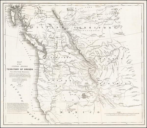 12-Pacific Northwest, Oregon and Washington Map By Washington Hood