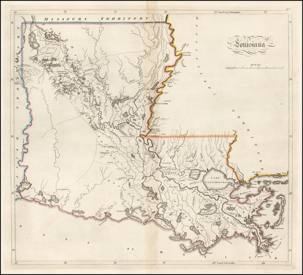 32-Louisiana Map By