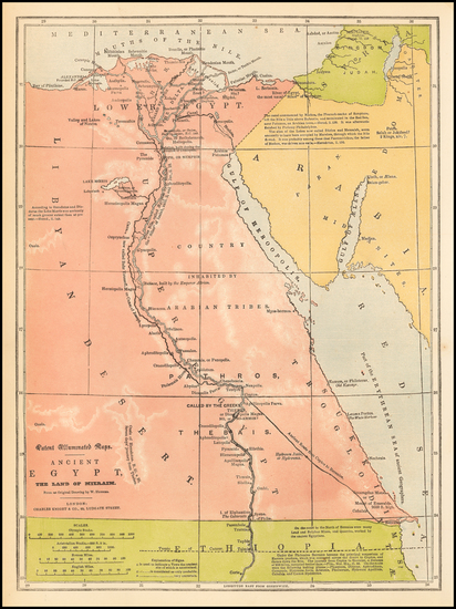 1-Egypt Map By Charles Knight & Co.