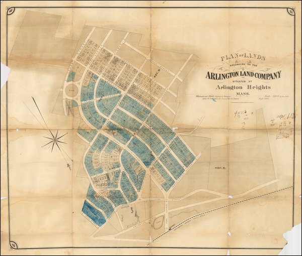 50-Massachusetts and Boston Map By J.H. Bufford's Lith.