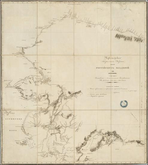 82-Alaska Map By Lavrentii Alekseevich zagoskin