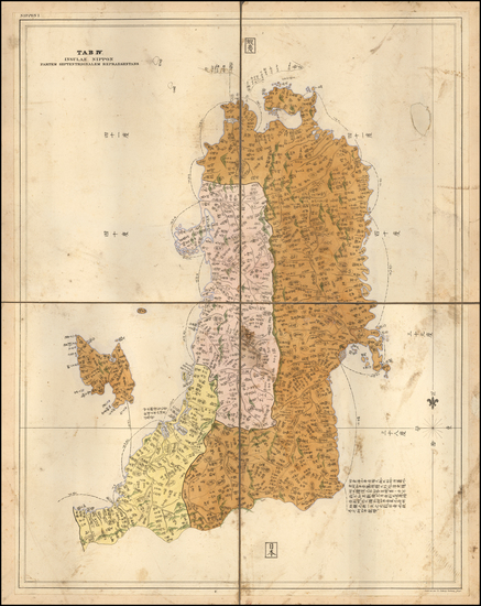 6-Japan Map By Phillip Franz von Siebold
