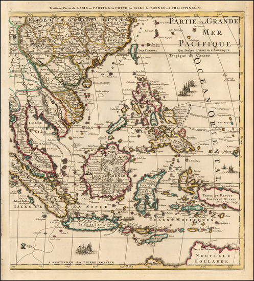 46-China, Philippines, Indonesia, Malaysia and Australia Map By Pieter Mortier