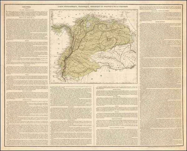 Colombia Map By Imprimerie de Cosson