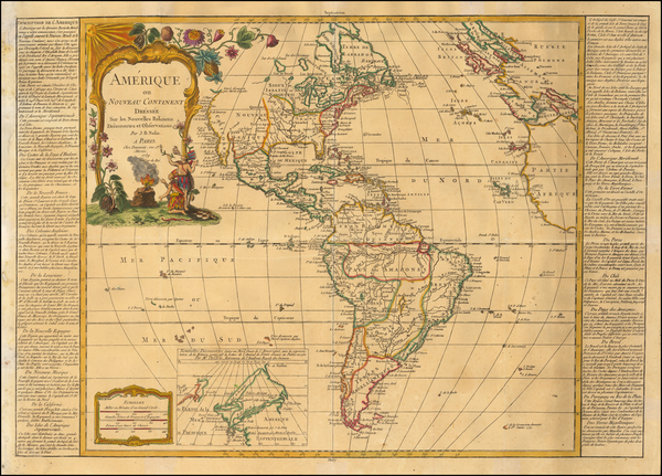 48-America Map By Jean-Baptiste Nolin / Jean-Francois Daumont