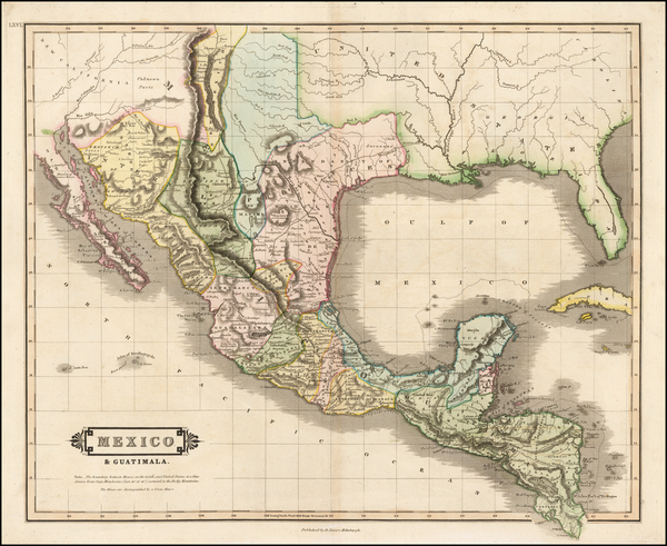 Texas, Southwest and Mexico Map By William Home Lizars