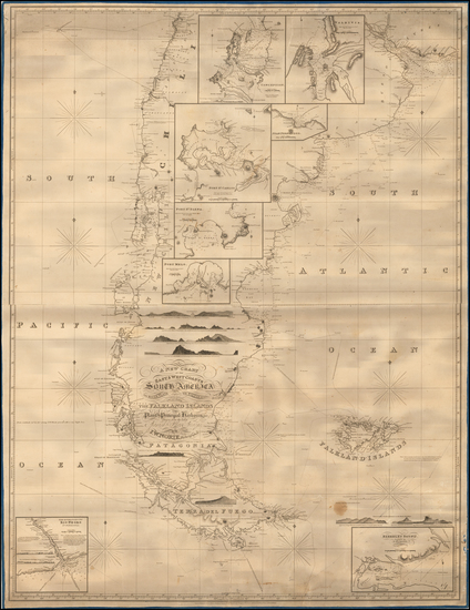 0-Argentina and Chile Map By John William Norie