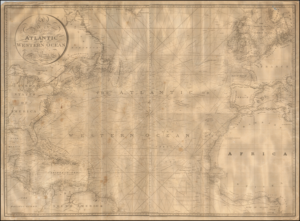 90-Atlantic Ocean Map By William Heather / John William Norie