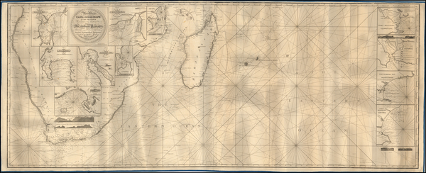 68-South Africa and African Islands, including Madagascar Map By John William Norie