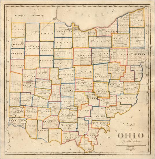 100-Ohio Map By John Kilbourne