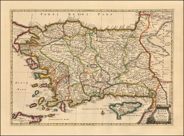58-Turkey and Turkey & Asia Minor Map By Pieter Mortier