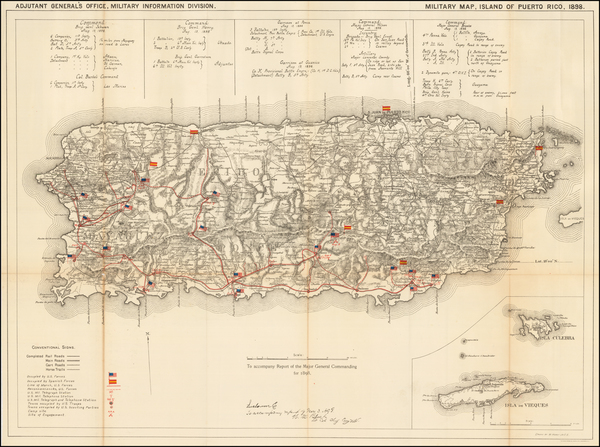 38-Puerto Rico Map By United States War Dept.