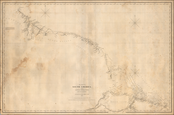54-South America and Guianas & Suriname Map By E & GW Blunt