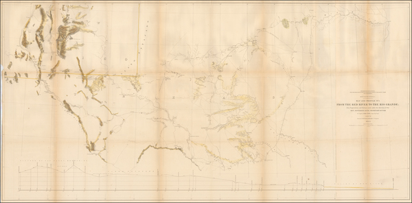 77-Texas, Southwest and New Mexico Map By U.S. Pacific RR Surveys