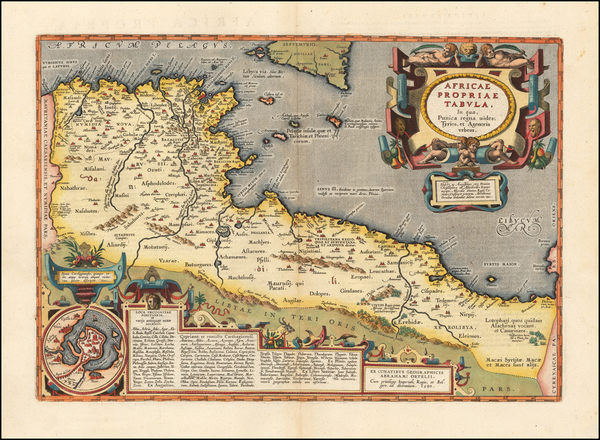 92-North Africa Map By Abraham Ortelius
