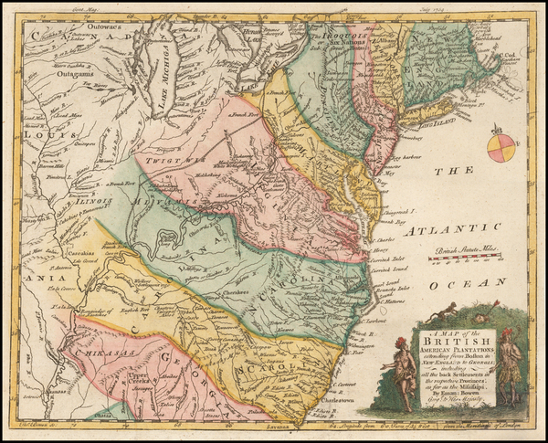 55-Mid-Atlantic and Southeast Map By Gentleman's Magazine