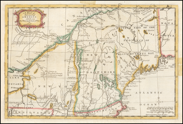 59-New England and New York State Map By Gentleman's Magazine