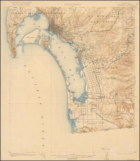 7-San Diego Map By U.S. Geological Survey
