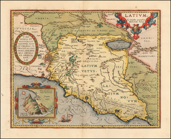 69-Northern Italy and Southern Italy Map By Abraham Ortelius