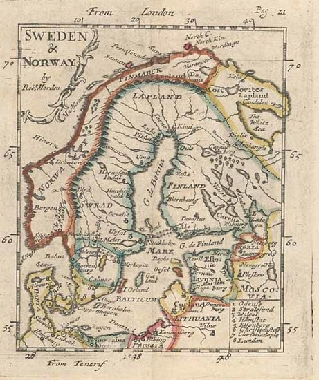 45-Europe and Scandinavia Map By Robert Morden
