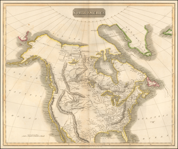 1-North America Map By John Thomson