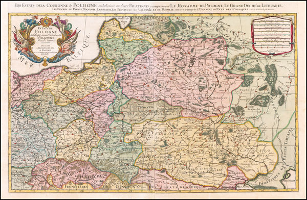 68-Poland and Baltic Countries Map By Pieter Mortier