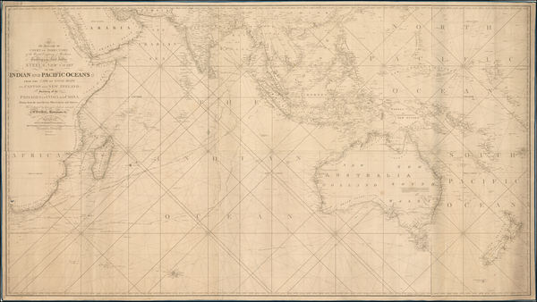 56-Indian Ocean, Southeast Asia and Australia Map By Penelope Steel