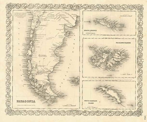 59-South America, Australia & Oceania and Other Pacific Islands Map By Joseph Hutchins Colton