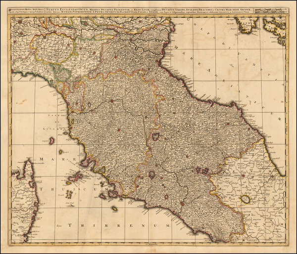 33-Northern Italy Map By Gerard & Leonard Valk